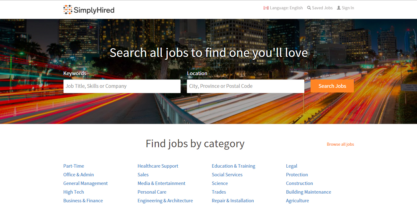 online job search boards for career transition